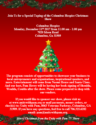 Columbus Hospice Monday, December 11th 2017 from 11:00 am - 1:00 pm 7020 Moon Road Columbus, Ga 31909